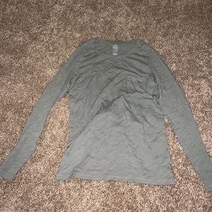 Aerie Olive Green Real Soft Long Sleeve Pocket Tee